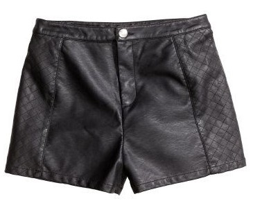 Natter with Sawyer - H&M leather shorts